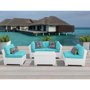 Order Monaco 5 Piece Sofa Seating Group with Cushions Price Check