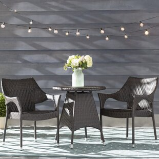 Getchell 3 Piece Bistro Set