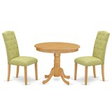 Casterton 3 Piece Solid Wood Dining Set by Winston Porter