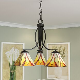May 3-Light Shaded Chandelier by Loon Peak