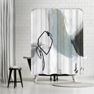 East Urban Home PI Creative Art Tied Ii Shower Curtain