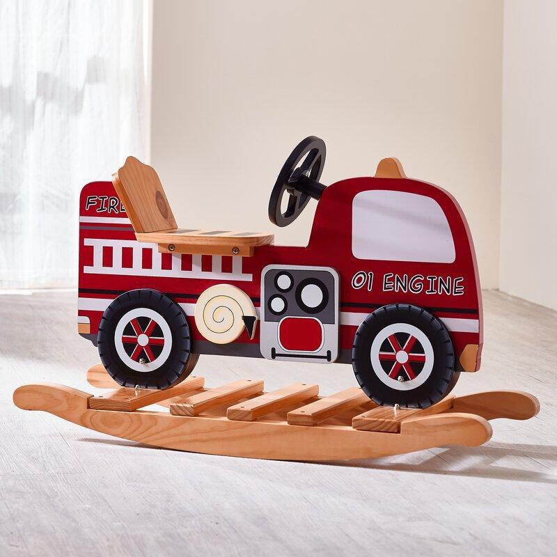 Trains and Trucks Fire Engine Rocker