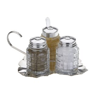 Queen Anne 4 Piece Leaf Cruet Set