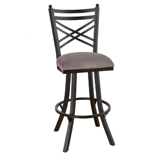 Howie 34 Swivel Bar Stool Red Barrel Studio
