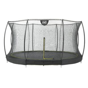 Silhouette Ground 14' Round Trampoline With Safety Enclosure By Exit Toys