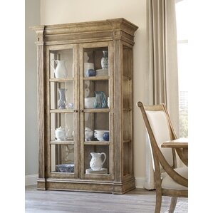 Akdeniz Lighted Curio Cabinet by Bay Isle Home