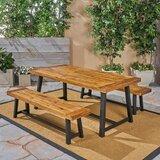 Vanetten Outdoor 3 Piece Dining Set