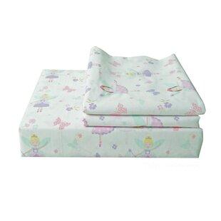 Best Reviews Fairy Princess 200 Thread Count 100% Cotton Sheet Set ByTextile City