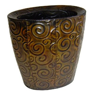 Ouida Metal Vase with Swirl Design
