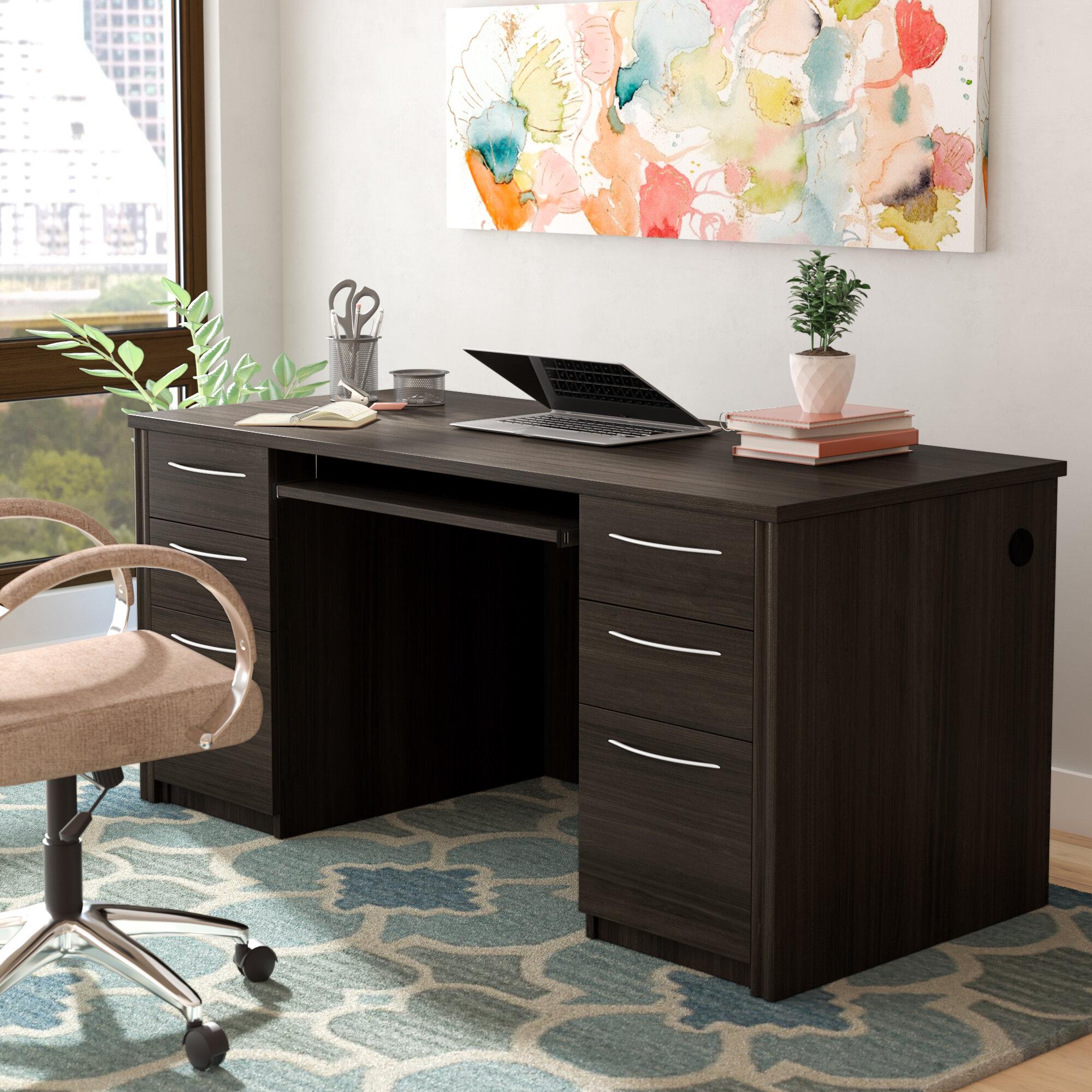 Latitude Run® Witchel Computer Desk & Reviews   Wayfair