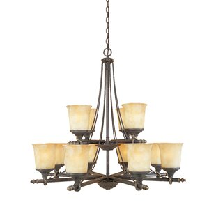 Fleur De Lis Living Corrine 12-Light Shaded Chandelier