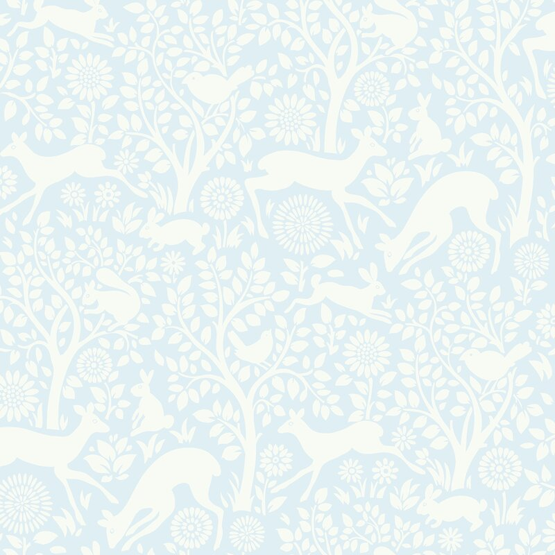 "Hide And Seek 33' X 20.5"" Anahi Forest Fauna Wallpaper Roll by Brewster Home Fashions"
