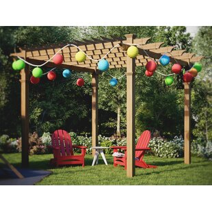 Roosevelt 12 Ft. W x 12 Ft. D Manufactured Wood Pergola by New England Arbors