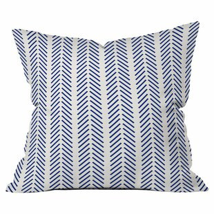 Nautical Lines Outdoor Throw Pillow