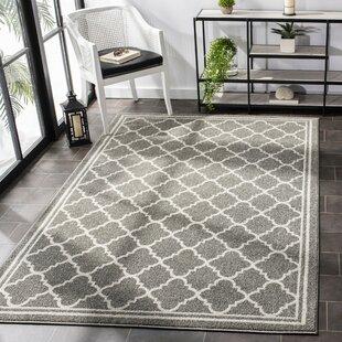 Dark Grey Geometric Rug Wayfair