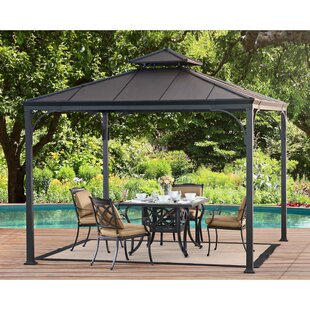 10 Ft. W x 10 Ft. D Steel Patio Gazebo by Sunjoy