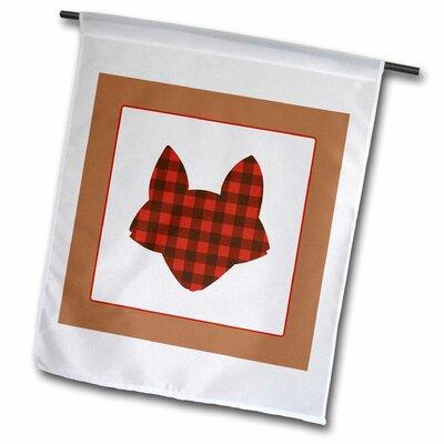 """3dRose Buffalo Plaid Fox Polyester 23"""" x 16"""" Garden Flag"""