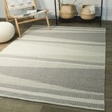 Valo Geometric Handmade Looped Cotton Gray/Beige Area Rug