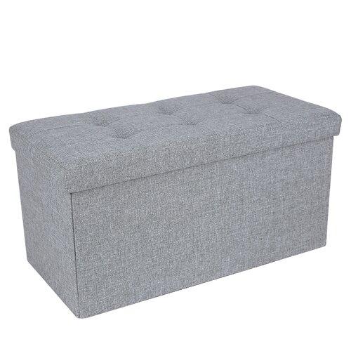 Sitzbank Susannah aus Leinen mit Stauraum   Küche und Esszimmer > Sitzbänke > Einfache Sitzbänke   Grau   Mdf   Marlow Home Co.