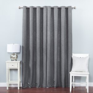 Solid Semi-Sheer Grommet Curtain Panels (Set of 2)