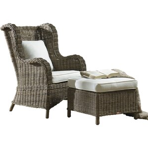 Exuma Wingback Chair and Ottoman by Panama Jack Sunroom