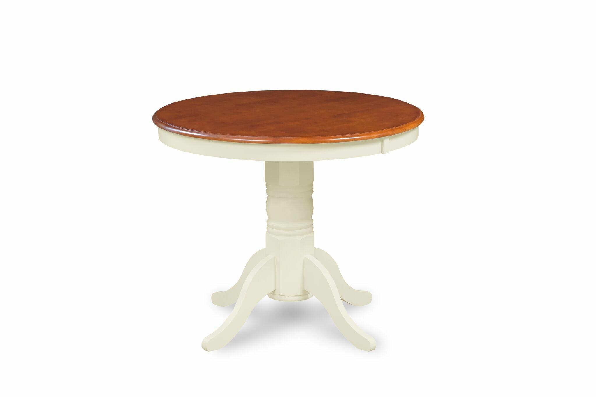 Breakwater Bay Rhames Cherry Top Solid Wood Dining Table Wayfair