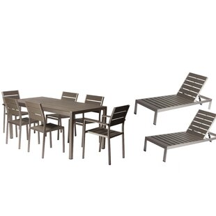 Carrell 9 Piece Patio Set by Orren Ellis