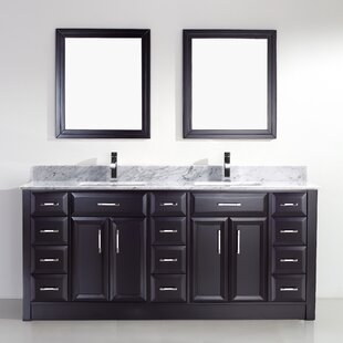 Caledonia 75 Double Bathroom Vanity Set