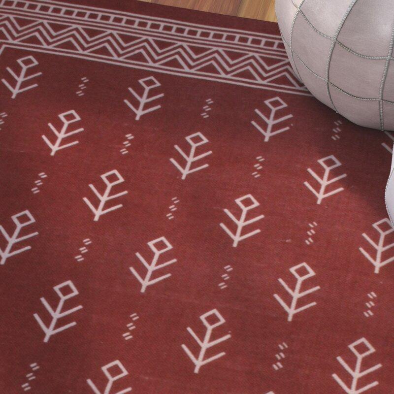 Azaria Royal Club 100 Cotton Hand Woven Burgundy Area Rug