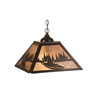 Kayak on Lake 2-Light Square/Rectangle Chandelier by Meyda Tiffany