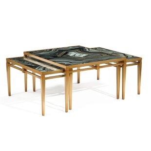John-Richard Agate 3 Piece Coffee Table Set