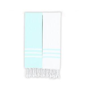 Polizzi 2 Piece 100% Cotton Towel Set