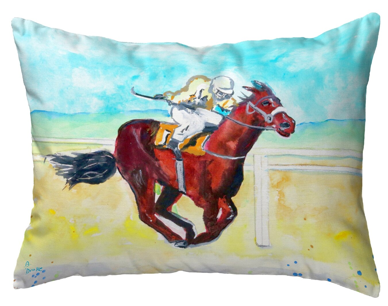 Highland Dunes Replogle Airborne Horse Indoor Outdoor Lumbar Pillow Wayfair