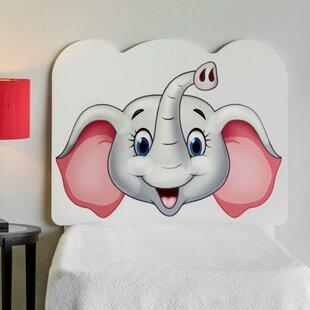 Best Price Rosetta Elephant Face Twin Panel Headboard ByZoomie Kids