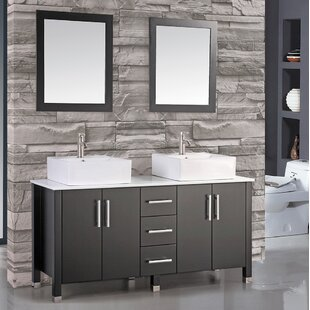 Laroche 71 Double Sink Bathroom Vanity Set with Mirror by Latitude Run