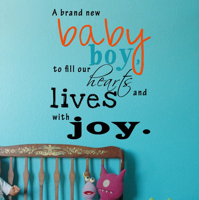 A Brand New Baby Boy Wall Decal & Pop Decors A Brand New Baby Boy Wall Decal | Wayfair