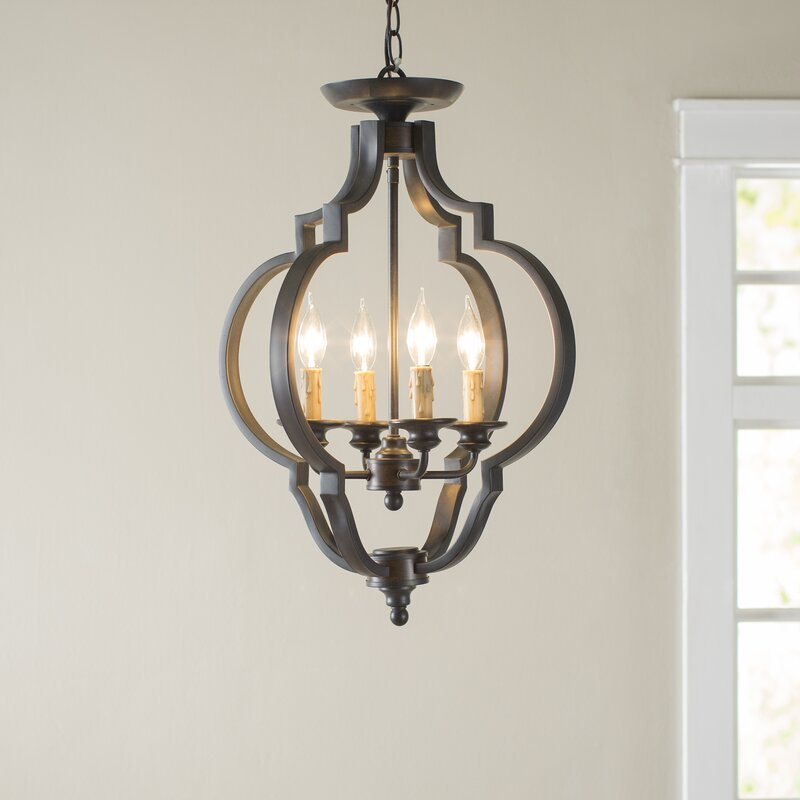 Jamesburg 4 Light Semi Flush Mount
