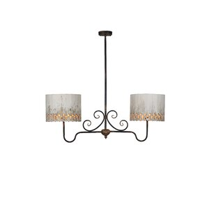 Heidi 2-Light Shaded Chandelier by Ophelia & Co.