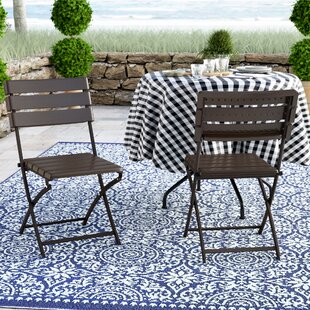 Danielson Bistro-Style Folding Patio Dining Chair (Set of 2)