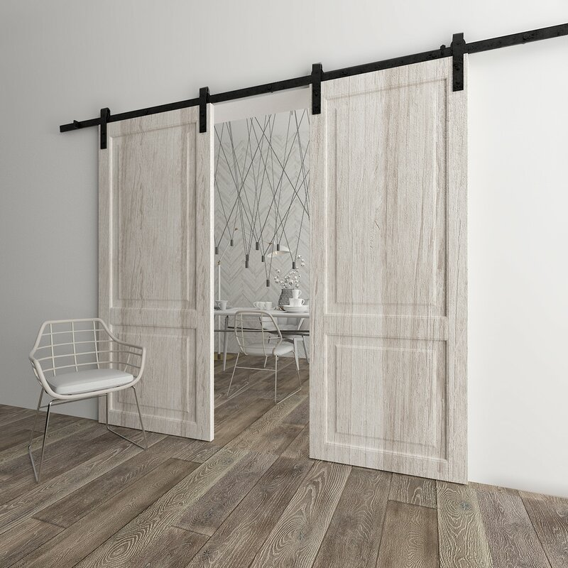 Clic Design Standard Double Track Barn Door Hardware Kit
