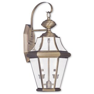 Compare prices Violetta 2-Light Outdoor Wall Lantern By Darby Home Co