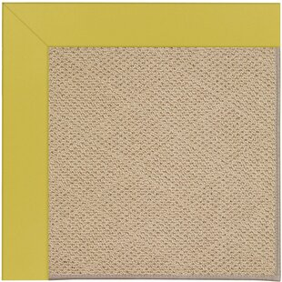 Lisle Machine Tufted Citronella/Brown Indoor/Outdoor Area Rug