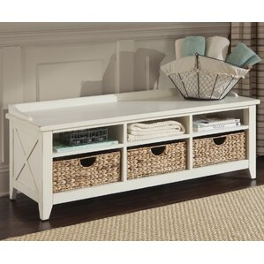 methuen wood storage bench
