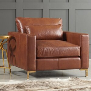 Spencer Leather Chair by DwellStudio