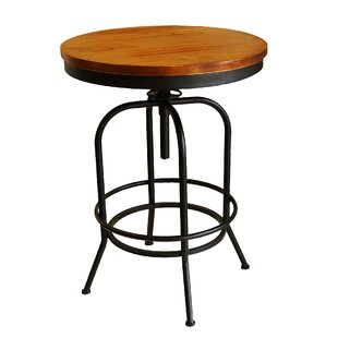 Jarin Round Swivel Adjustable Pub Table 17 Stories
