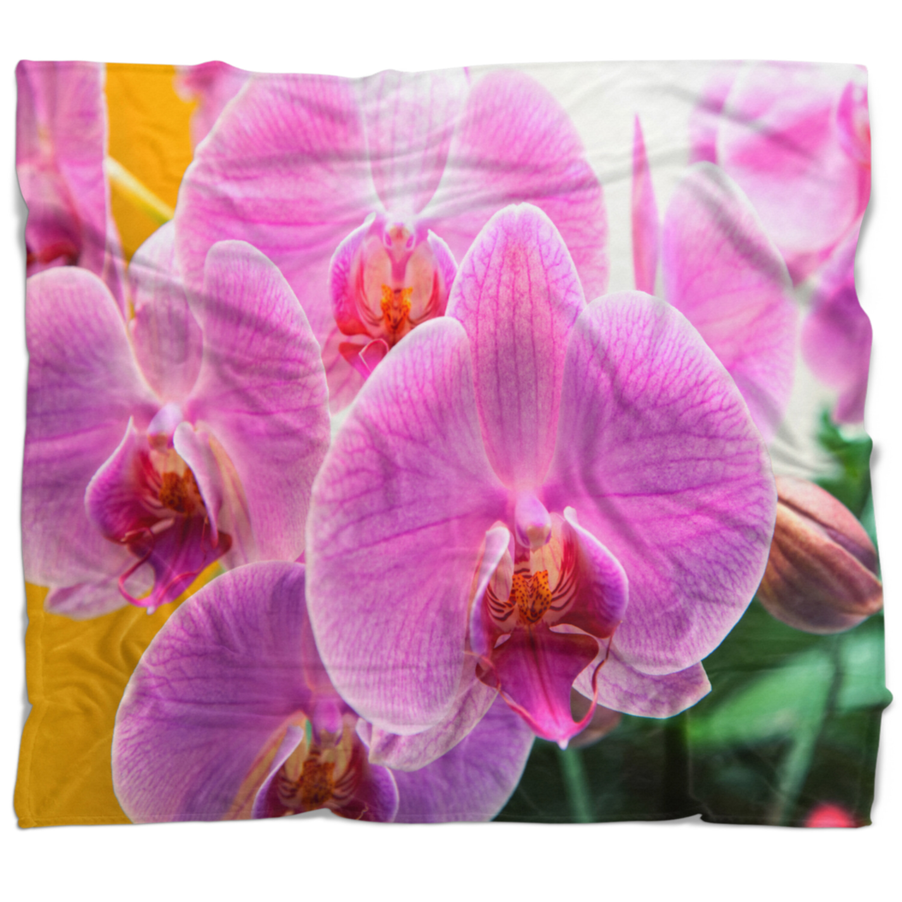 East urban home flower beautiful orchid flowers blanket wayfair izmirmasajfo