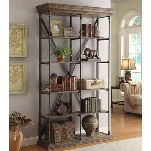 Mabie Medium Brown Etagere Bookcase by Trent Austin Design