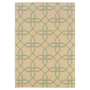 Ceasar Ivory/Blue Indoor/Outdoor Area Rug