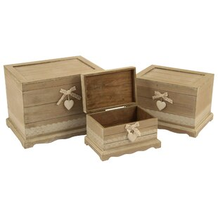 Smithville 3 Piece Wooden Trunk Set By Lily Manor