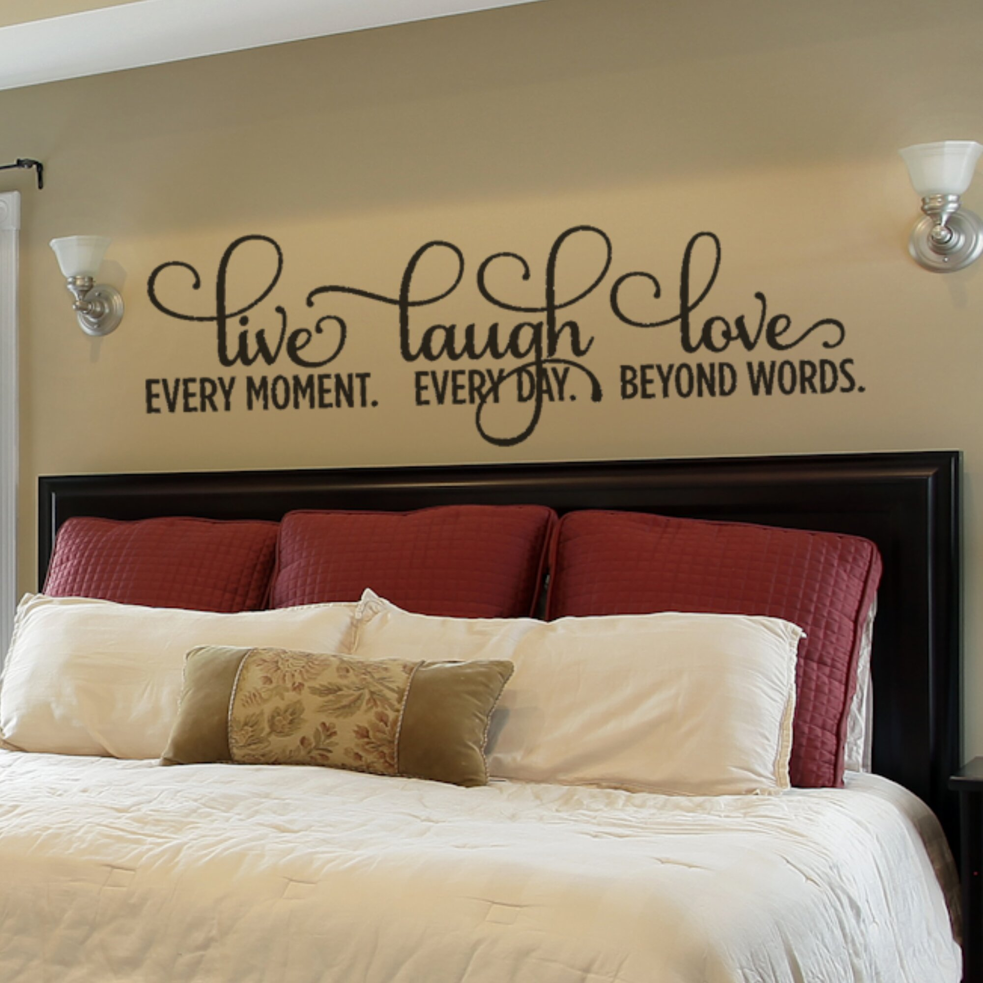 Wayfair & Live Laugh Love Wall Decal Extra Large
